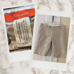 Anthropologie ▪ Cartonnier Metallic Bermuda Shorts